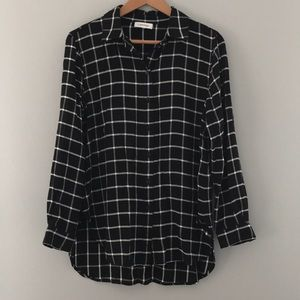 Calvin Klein roll up sleeve button down shirt